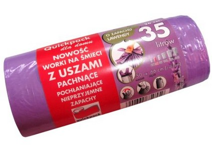 pytle na odpadky s uchy 35l (26ks) 50x56cm s aroma LEVANDULE 8µ