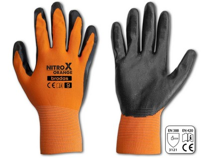 rukavice NITROX ORANGE nitril  8