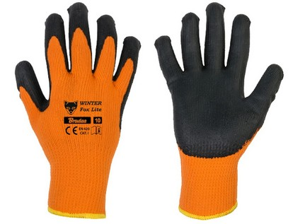 rukavice WINTER FOX LITE  9 latex